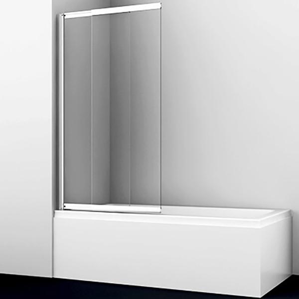 Шторка на ванну WasserKRAFT Main 80x140 41S02-80WS профиль Серебристый стекло прозрачное с покрытием WasserSchutz недорого