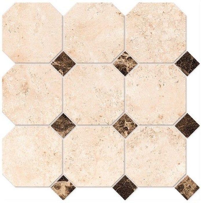 Керамическая мозаика Estima Elegant Octagon Big полированный EL03/LM01 30х30 см