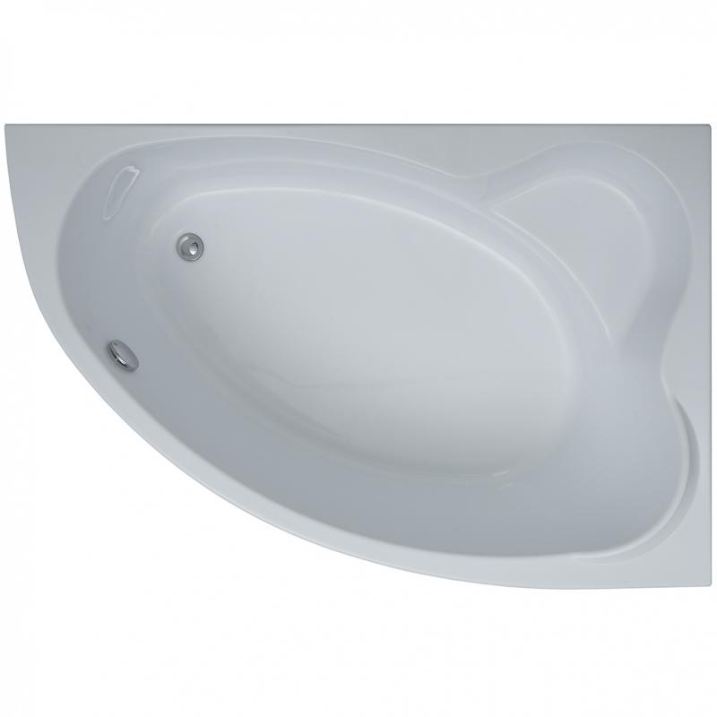 Акриловая ванна Aquanet Lyra 150x100 R 254758 без гидромассажа акриловая ванна aquanet mayorca 150x100 r правая с каркасом без гидромассажа 205438