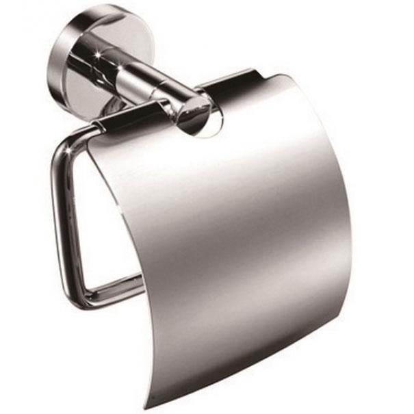 Держатель туалетной бумаги Kaiser KH-2000 с крышкой Хром