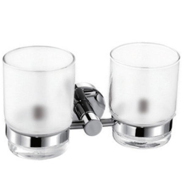 Стакан для зубных щеток Kaiser KH-2050 двойной Хром стакан для зубных щеток kaiser kh 1505 хром
