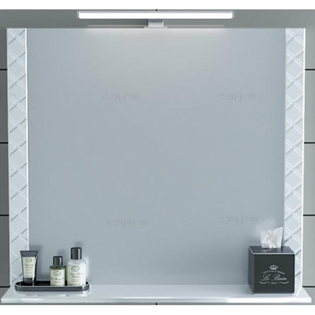 Зеркало СанТа Калипсо 80 117004 с подсветкой Белое