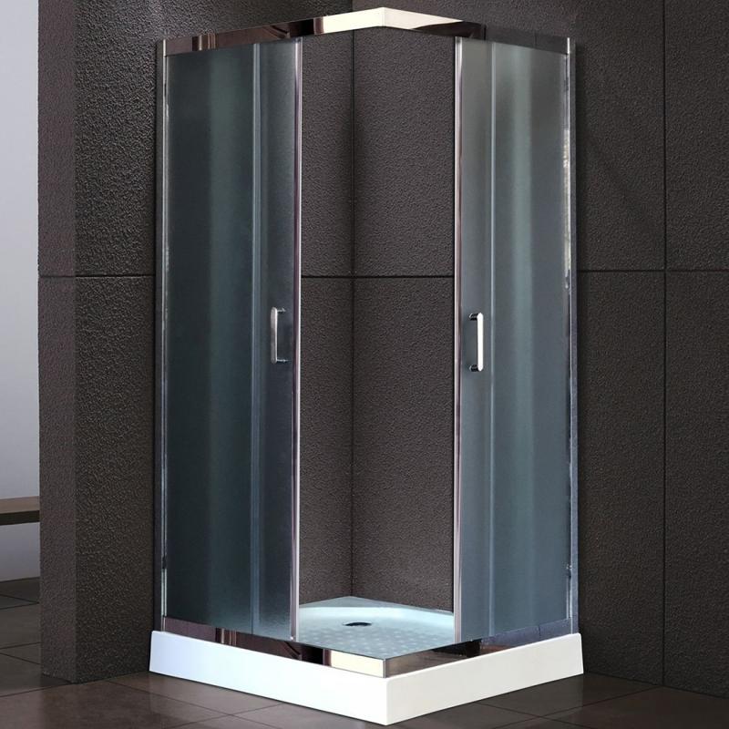 Душевой уголок Royal Bath HPD 80х80 RB80 HPD-C-CH без поддона профиль Хром стекло рифленое