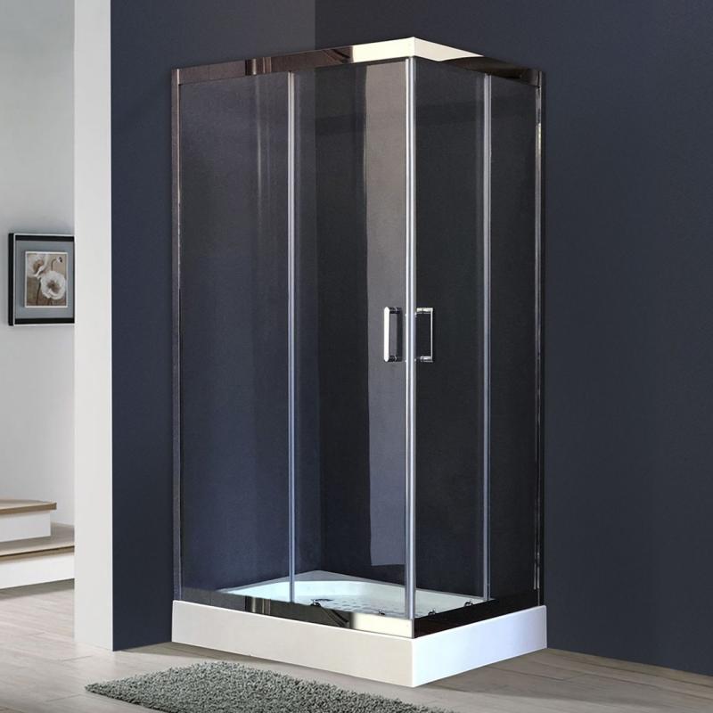 Душевой уголок Royal Bath HPD 90х80 RB8090 HPD-T-CH без поддона профиль Хром стекло прозрачное