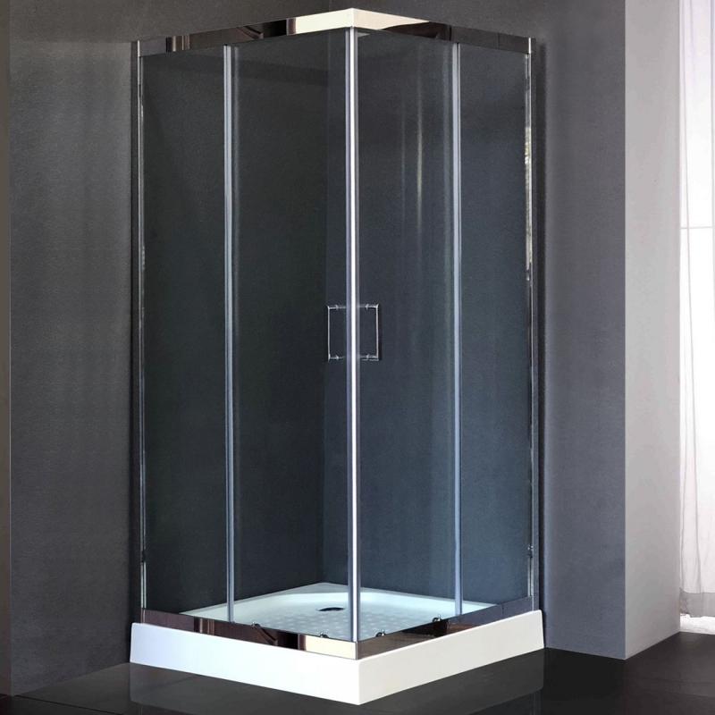 Душевой уголок Royal Bath HPD 100х100 RB100 HPD-T-CH без поддона профиль Хром стекло прозрачное