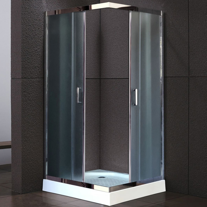 Душевой уголок Royal Bath HPD 100х100 RB100 HPD-C-CH без поддона профиль Хром стекло рифленое