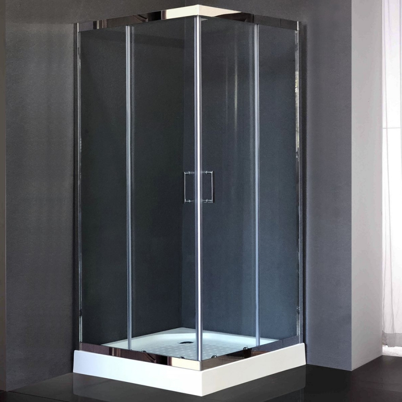 Душевой уголок Royal Bath HPD 120х120 RB1212 HPD-T-CH без поддона профиль Хром стекло прозрачное