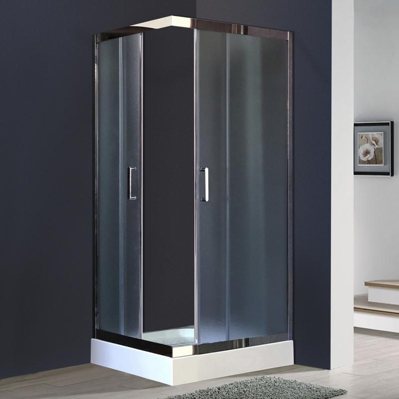 Душевой уголок Royal Bath HPD 90х80 RB8090 HPD-C-CH без поддона профиль Хром стекло рифленое