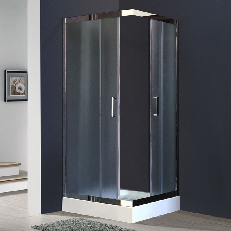 Душевой уголок Royal Bath HPD 100х90 RB9100 HPD-C-CH без поддона профиль Хром стекло рифленое