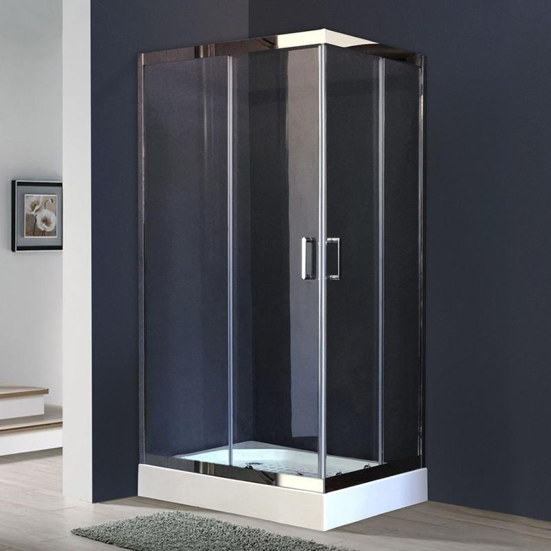 Душевой уголок Royal Bath HPD 100х90 RB9100 HPD-T-CH без поддона профиль Хром стекло прозрачное