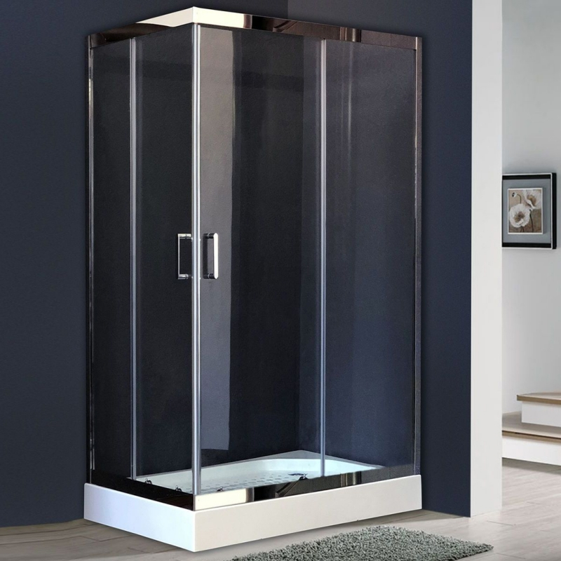 Душевой уголок Royal Bath HPD 120х80 RB8120 HPD-T-CH без поддона профиль Хром стекло прозрачное