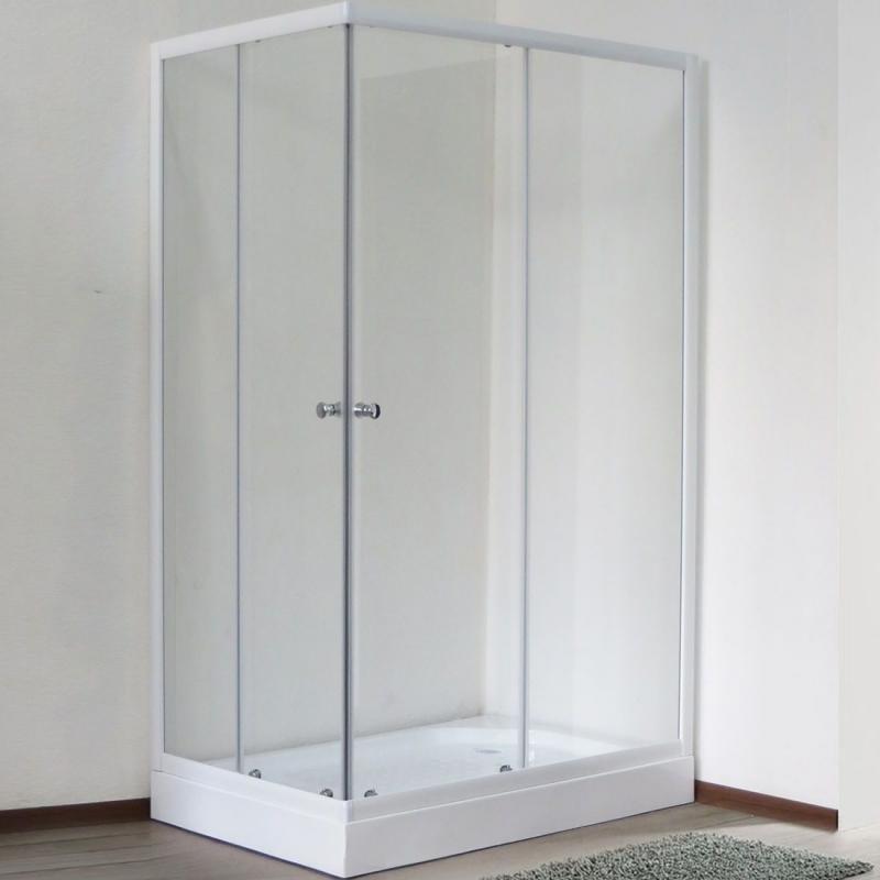 Душевой уголок Royal Bath HPD 100х90 RB 9100 HPD-T без поддона профиль Белый стекло прозрачное