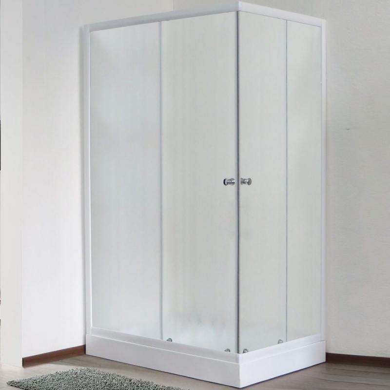 Душевой уголок Royal Bath HPD 100х90 RB 9100 HPD-C без поддона профиль Белый стекло матовое