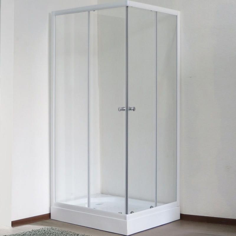 Душевой уголок Royal Bath HPD 75х85 RB8575HPD-T без поддона профиль Белый стекло прозрачное
