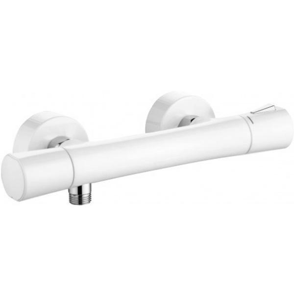 Смеситель для душа Kludi Zenta 351009138 с термостатом Белый Хром смеситель с термостатом белый kludi zenta 351019138