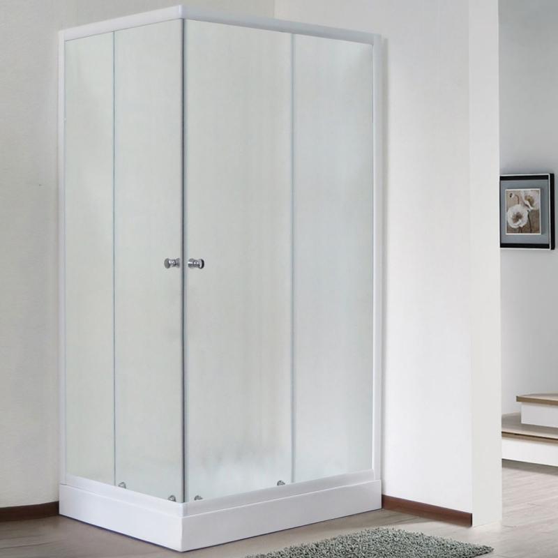 Душевой уголок Royal Bath HPD 95х120 RB1295HPD-C без поддона профиль Белый стекло матовое