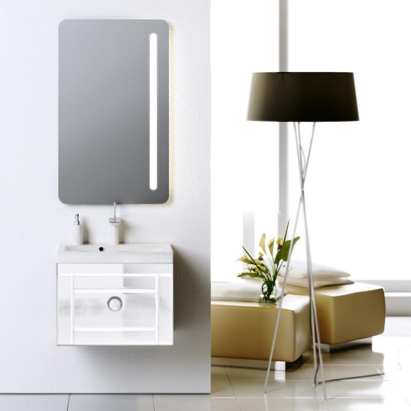 Инфинити 60 подвесная БелаяМебель для ванной<br>Подвесная тумба под раковину Aqwella Инфинити 60 Inf.01.06/001 белая, с глянцевой поверхностью, с выдвижным ящиком с хромированной ручкой. Для использования в ванных комнатах с повышенной влажностью. <br>Материал: высококачественный испанский МДФ (FINSA).<br>Покрытие: высокоглянцевая эмаль.<br>Отделка внутренних элементов: под ткань, цвет Eolo.<br>Экологически чистые материалы.<br>Фурнитура Blum: надежность идолговечность.<br>Монтаж: подвесной, крепление к стене.<br>Отделение:<br>один выдвижной ящик.<br>Система разделения внутреннего пространства.<br>Система полного выдвижения и плавного закрывания (Blum).<br>В комплекте поставки:<br>тумба.<br>
