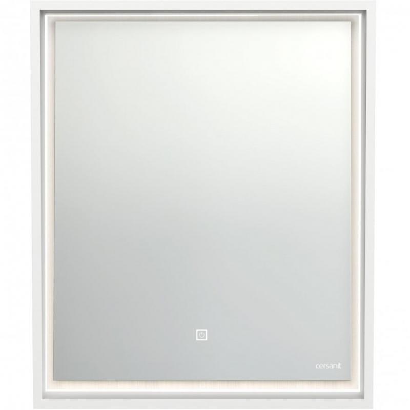Зеркало Cersanit Louna 60 LU-LOU60-Os с подсветкой Белый глянец с сенсорным выключателем