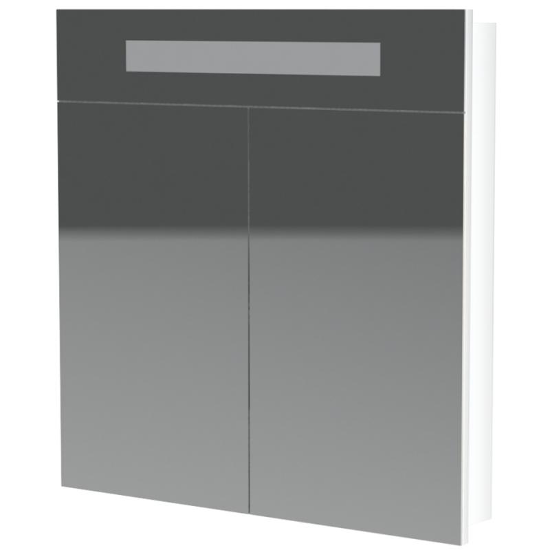 Зеркальный шкаф Orange Senator 80 ZSS 80 W с подсветкой Белый зеркальный шкаф vigo kolombo 80 с подсветкой серый