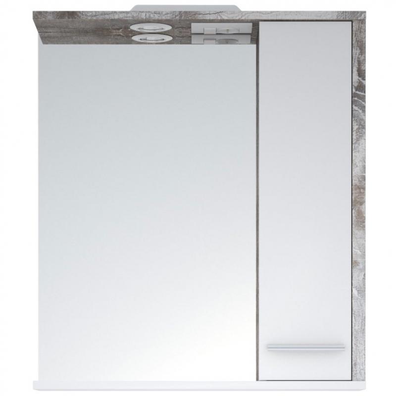 Зеркало со шкафом Corozo Лорена 65 SD-00000294 с подсветкой Антик Белое
