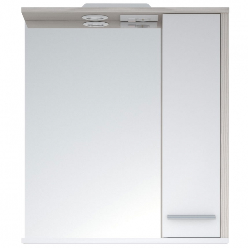 Зеркало со шкафом Corozo Лорена 75 SD-00000297 с подсветкой Лайн Белое