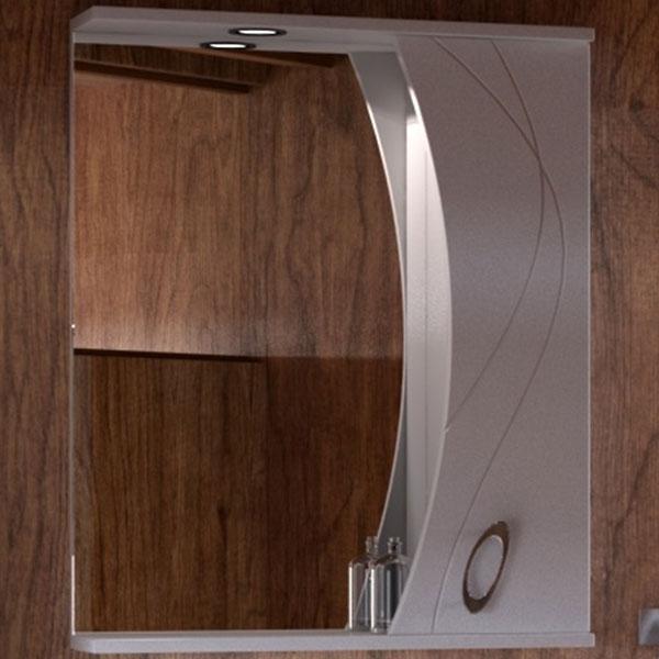 Зеркало со шкафом Corozo Наина 60 SD-00000298 с подсветкой Белое