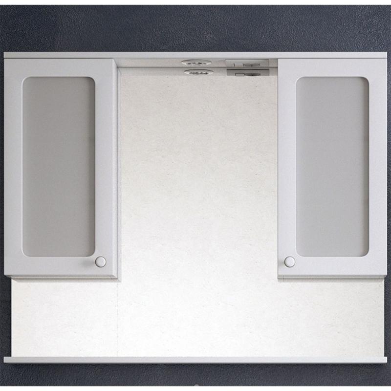 Зеркало со шкафом Corozo Прованс 105 SD-00000469 с подсветкой Белое