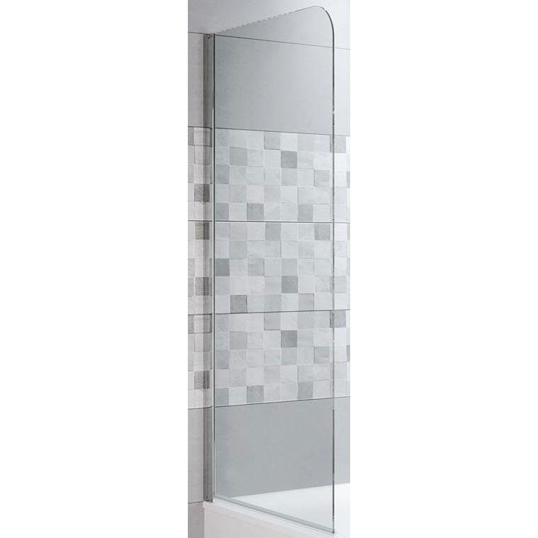 Фото - Шторка на ванну Riho Novik Z500 81 GZT9200124 профиль Хром стекло прозрачное душевая перегородка riho novik z400 90 gz4090000 профиль хром стекло прозрачное