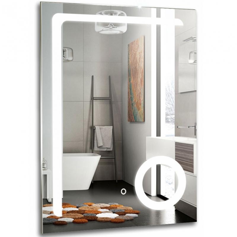 цена на Зеркало Mixline Премьер Клио 60 539791 с подсветкой с увеличительным зеркалом и сенсорным выключателем