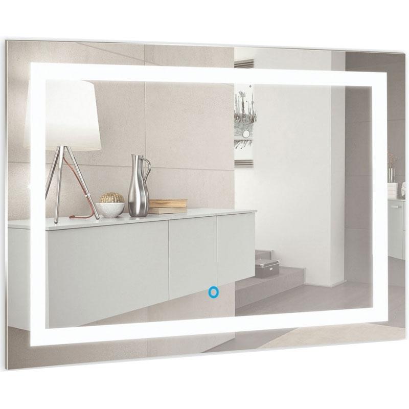 Зеркало Mixline Премьер Ливия 80 533668 с подсветкой с сенсорным выключателем и пескоструйным рисунком