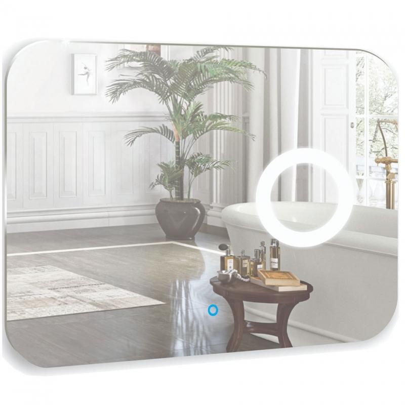 Зеркало Mixline Премьер Лиза 80 533670 с подсветкой с сенсорным выключателем и пескоструйным рисунком