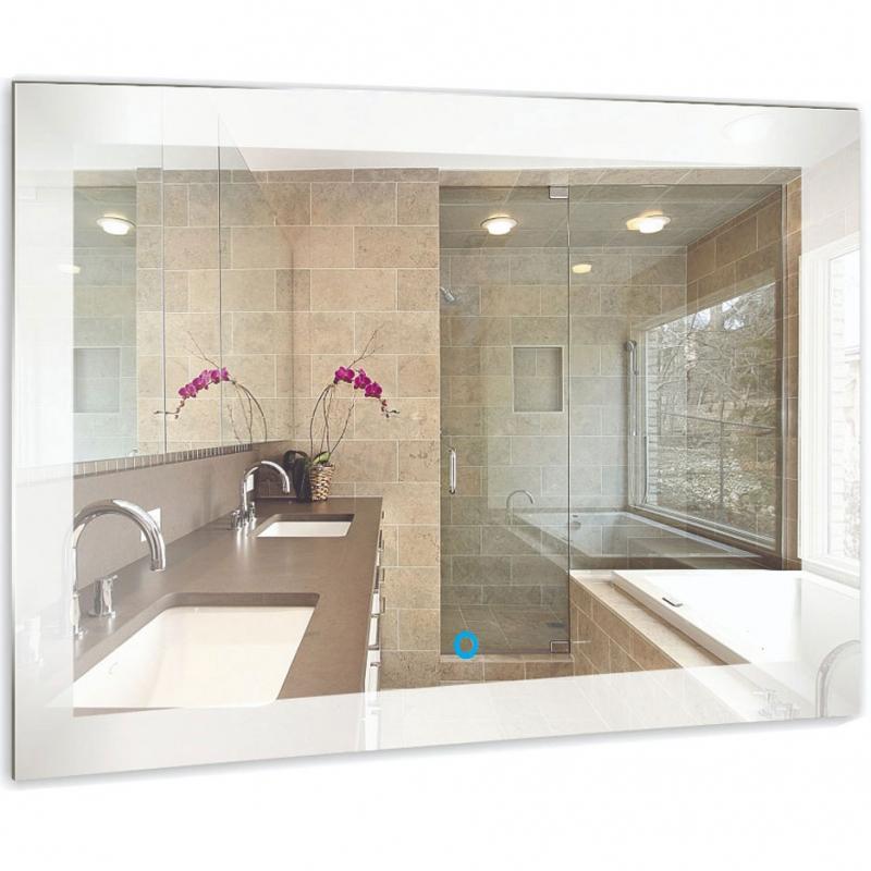 Зеркало Mixline Премьер Норма 80 530907 с подсветкой с сенсорным выключателем и пескоструйным рисунком