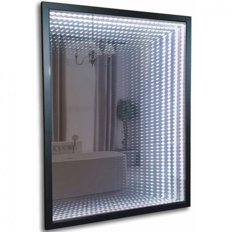 Фото - Зеркало Mixline Премьер Серенити 60 539795 с подсветкой Черное с сенсорным выключателем зеркало mixline премьер танго эконом 60 540955 с подсветкой с сенсорным выключателем