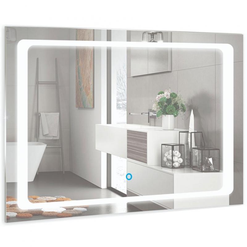 Зеркало Mixline Премьер Фортуна 80 533694 с подсветкой с сенсорным выключателем и пескоструйным рисунком