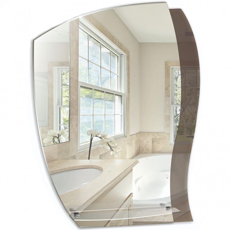Зеркало Mixline Престиж Дуэт 55 525388 с полкой с декоративной тонировкой зеркало mixline дуэт 55х72 с полкой 4620001980444