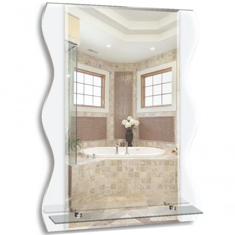 Зеркало Mixline Престиж Лацио 55 537408 с полкой стекло Лакобель