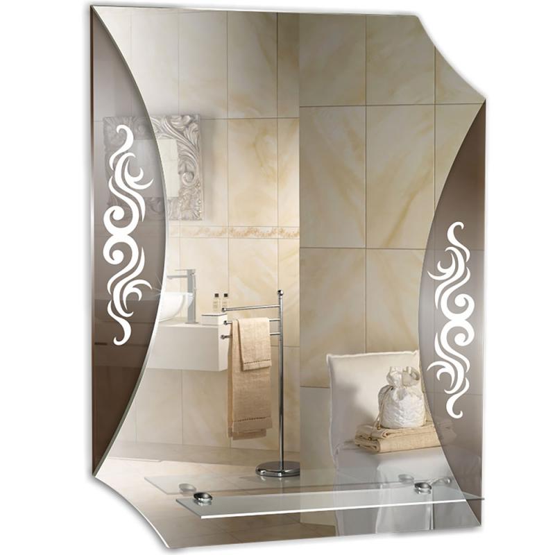 Зеркало Mixline Престиж Парус 50 525385 с полкой с декоративной тонировкой