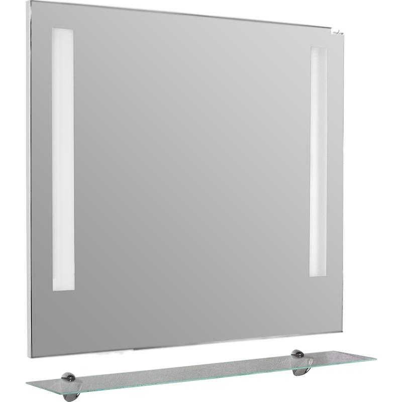 Зеркало Mixline Ницца 80 526259 с подсветкой с полкой зеркало mixline дуэт 55х72 с полкой 4620001980444