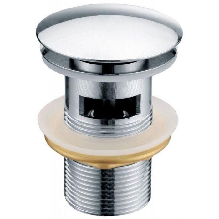 Донный клапан Kaiser 8037 click-clack Хром донный клапан kaiser click clack квадрат с переливом хром 8034