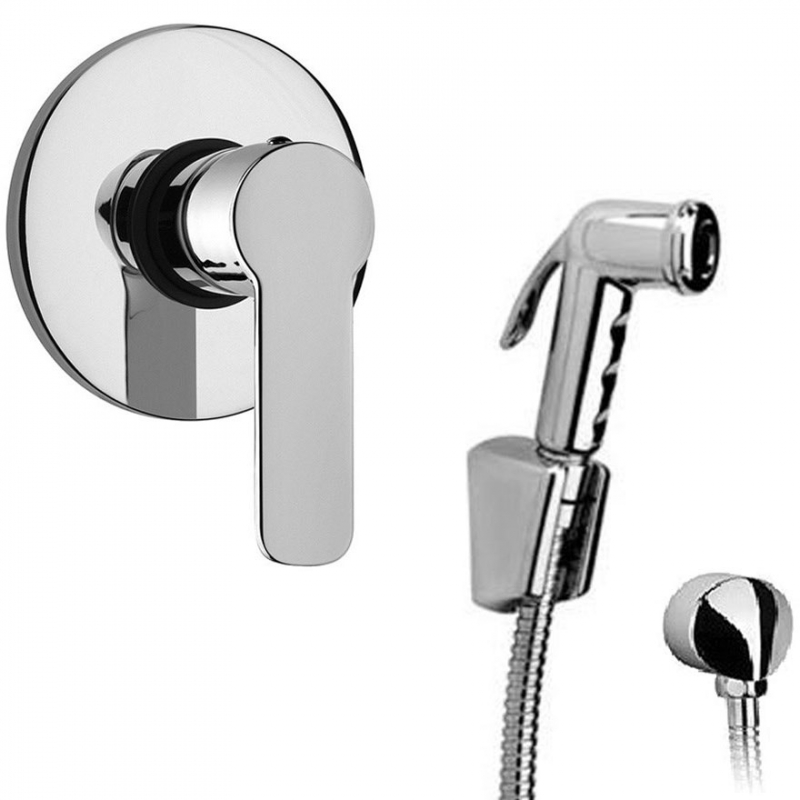 Гигиенический душ со смесителем Paini Arona ARCR690/574 Хром гигиенический душ со смесителем ideal standard ceraplan b0040aa хром