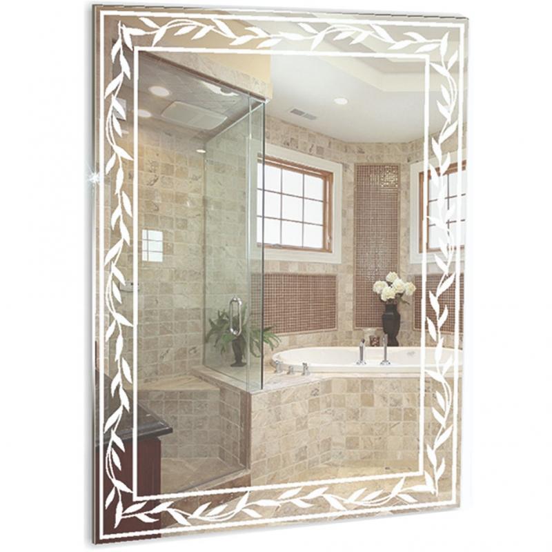 Зеркало Mixline Шарм Лавр 54 537539 с пескоструйным рисунком