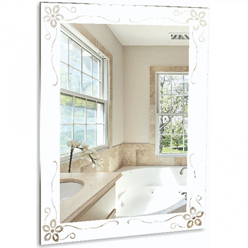 Зеркало Mixline Шарм Магнолия 54 537540 с пескоструйным рисунком