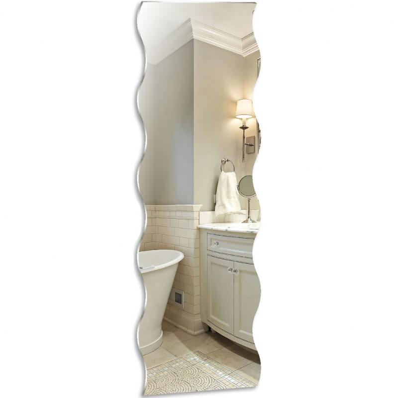 Зеркало Mixline Комфорт Волна-декор 50 537556 с полированной кромкой
