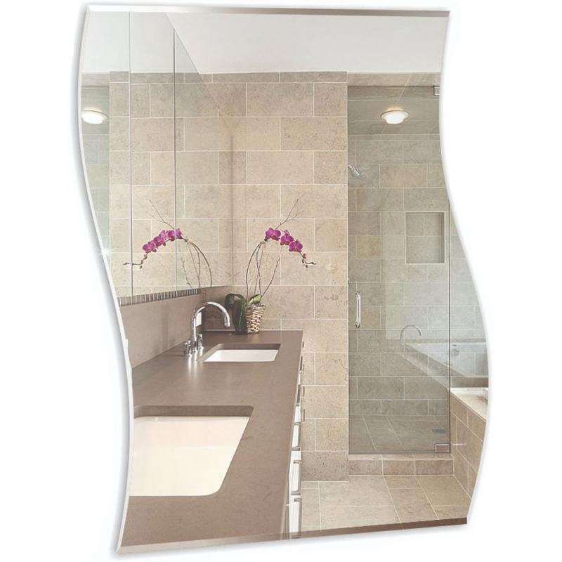 Зеркало Mixline Комфорт Волна 54 537557 с полированной кромкой