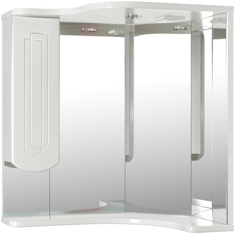 Зеркало со шкафом Mixline Корнер 63 L 524712 с подсветкой Белое