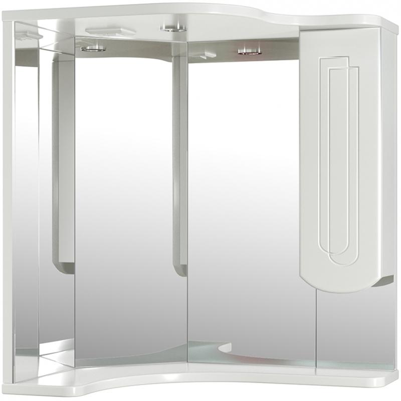 Зеркало со шкафом Mixline Корнер 63 R 524925 с подсветкой Белое