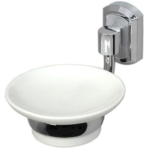 Мыльница WasserKRAFT K-28129 Хром Белая мыльница wasserkraft k 24229 хром белая