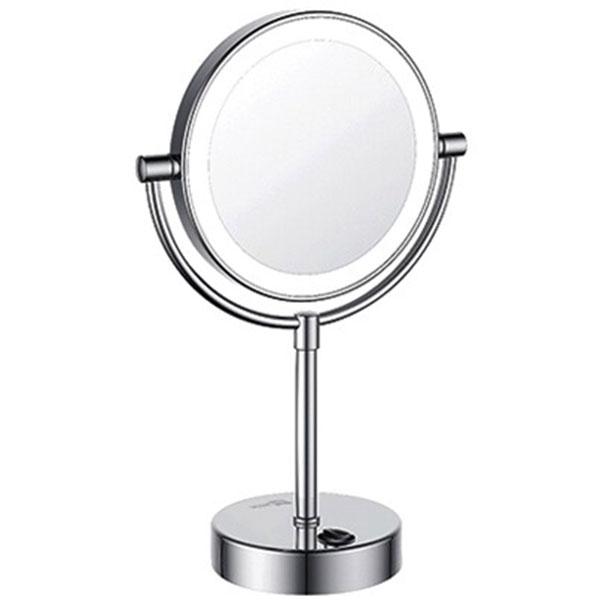 Фото - Косметическое зеркало WasserKRAFT K-1005 с подсветкой с увеличением Хром зеркало косметическое настольное wasserkraft k 1002 хром