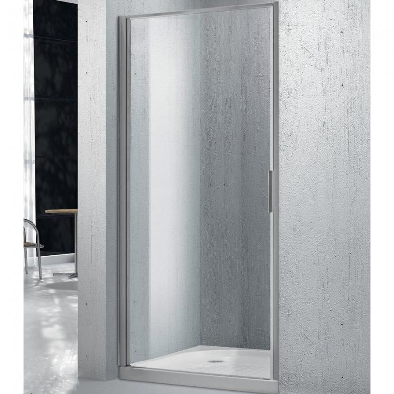 Душевая дверь BelBagno Sela 80 SELA-B-1-80-Ch-Cr профиль Хром стекло фактурное
