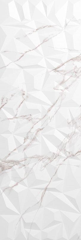 Керамический декор CRETO Lazzaro Crystal Pearl W M/STR R Glossy 1 MEJ23W29310C 30х90 см